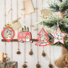 Home Christmas Wooden Hanging LED Light Tree Car Ball Star Party Decor Ornament