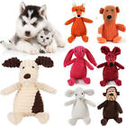 Cute Pet Dog Puppy Chew Toy Squeaker Squeaky Soft Plush Play Sound Teeth Toys UK