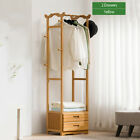 2/3 Drawer 8 Hooks Tree Coat Rack Wooden Clothes Hanging Stand Storage Holde
