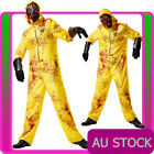 Mens Yellow Hazmat Suit Costume Halloween Breaking Bad Resident Evil Jumpsuit