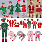 Kid Baby Christmas Fancy Dress Costume Santa Claus Elf Clothes Outfit Xmas NEW