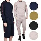 Mens Tracksuit Matching Shorts & Long Bottoms Crew Neck Jogging Casual Workout