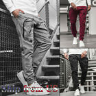 Внешний вид - Men Casual Joggers Pants Sweatpants Cargo Combat Loose Active Sports Trousers