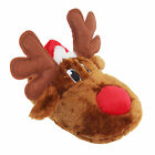 Adults Unisex Christmas Reindeer Design Novelty Slippers (SL465)