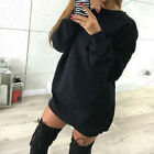 Women Oversize Sweatshirt Mini Dress Sweater Casual Loose Top Baggy Shirt