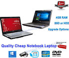 Cheap Fast Netbook Laptop Dual I3 I5 8gb 256gb Ssd Webcam Windows 10 2.50ghz