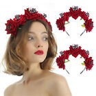 Party Costumes Halloween Headbands Wedding Garland Red Rose Crown Hair Wreath