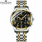 Luxury FNGEEN Mens Watch Quartz Stainless Steel Analog Sports Wrist Watches Gift