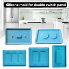 DIY Craft Making Crystal Epoxy Resin Mold Switch Socket Panel Silicone Mould-HOT