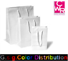 Bag Of Paper Pastificato White Polished With Handle Package 25 Pieces