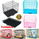 Portable Foldable Dog Cage Puppy Crates Pet Carrier Training Cages S/M/L/XL Size