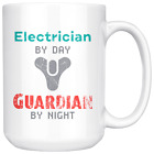 Electrician by Day, Guardian by Night 15oz Coffee Mug, Unique Gift for Video Gam