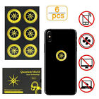 6pcs Anti Radiation Protection Sticker EMF Protector Quantum Shield Cell Phone
