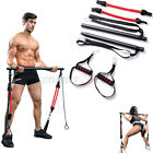 Portable Pilates Bar Kit Resistance Band Exercise Stick Drawbar Home Yoga Gym US