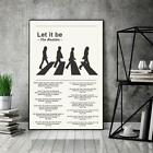 The Beatles Poster, Let It Be Lyrics Poster,Music Song Poster- No Frame