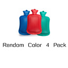 1/2/4 Hot Water Bottle Rubber Bag Warm Relaxing Heat Cold Therapy-Color May Vary