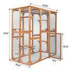 6 Platforms Modern and Simple Outdoor Wooden Rabbit Cat Dog Enclosure Catio Cage