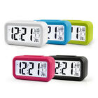 Temperature Alarm Clock Thermometer Electronic Large Bedside LED Smart