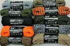 Atwood Rope Mfg Solid or Camo Pattern 550 Lb Paracord 100 ft - USA Made