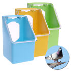 Pigeon Food Water Bowl Feeder Plastic Birds Cage Sand Food Box Feed Cup