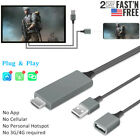 1080P HDMI Mirroring Cable Phone to TV HDTV Adapter For iPhone iPad Android