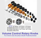 Al alloy Volume Control Rotary Knobs For 6mm Dia Knurled/D Shaft Potentiometer