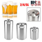 2/4/5L Mini Beer Barrel with Spiral Cover Lid Practical Home Hotel Supplies