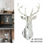 Decoration Wall Stickers Deer Home Living Room Silver Barbershop Big 3d
