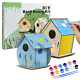 Arts and Crafts for Kids Ages 4-12, 2 Packs DIY Bird House Kit for Kids to Build photo