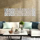 3d Mirror Floral Art Removable Wall Sticker Mural Decal Home Room Decoration Ll