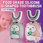 360  Children Kids Automatic Electric Toothbrush U-shaped Teeth Cleaner Brush