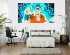 3D Goku Blue Flame P2889 Anime Character Wall Mural Decal Stickers Poster Amy
