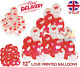10-100 I Love You Balloons Valentines Day Romantic Baloons His/Her Gift WEDDING