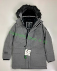 Guys Hollister Faux-Fur-Lined Parka Light Grey New With tags!!!