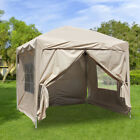 Gazebo Pop-up Marquee Canopy Garden Wedding Party Tent Water-Resistant 3 Size