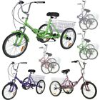 Adults Teens 20inch Foldable Tricycle 7 Speed Bike Trike Sport Bicycle 6 Colors