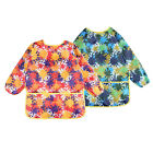 Long Sleeve Childrens Kids Toddler Waterproof Play Painting Apron Art Smock for