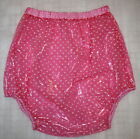 PVC Adult Baby Incontinence Diaper Rubber Pink Crystal Clear Transparent Of Dots