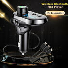 Fast Charging Universal Adapter 3 USB MP3 Player Wireless Bluetooth Car Charger