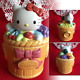 Sanrio Hello Kitty Pottery Cookie Jar Canister Candy Pot 7.4 1995 from Japan