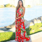 Women Ladies Boho Floral Maxi Dress Cocktail Party Evening Summer Beach Sundress