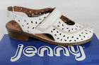 Jenny by ARA Sandal, Leather, White, Width H Leather Footbed New