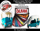 The Toy Restore Custom License Sticker Fits Step2 Minivan For Two Ride-on