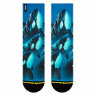 Merge4 Men's Taylor Reihhold Killer Whale Socks Blue Footwear Active Skateboa...