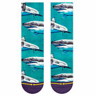 Merge4 Men's Taylor Reihhold Sharks Socks Blue Footwear Active Skateboarding ...