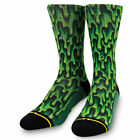Merge4 x Jimbo Phillips Slime Men's Socks Green Clothing Apparel Footwear Com...