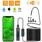 16FT 8LED WiFi HD Borescope Endoscope Snake Inspection Camera for iPhone Android