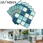 Home Wall Stickers Decor Mosaic Tile Decals Bedroom Household Square 10*10cm Diy
