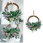 Silk Front Door Wreath 14 Inches Lavender Garland Home Wall Decor