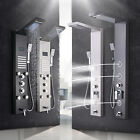 ELLO&ALLO LED Rain Shower Panel Tower Stainless Steel Faucet Massage Body Jets